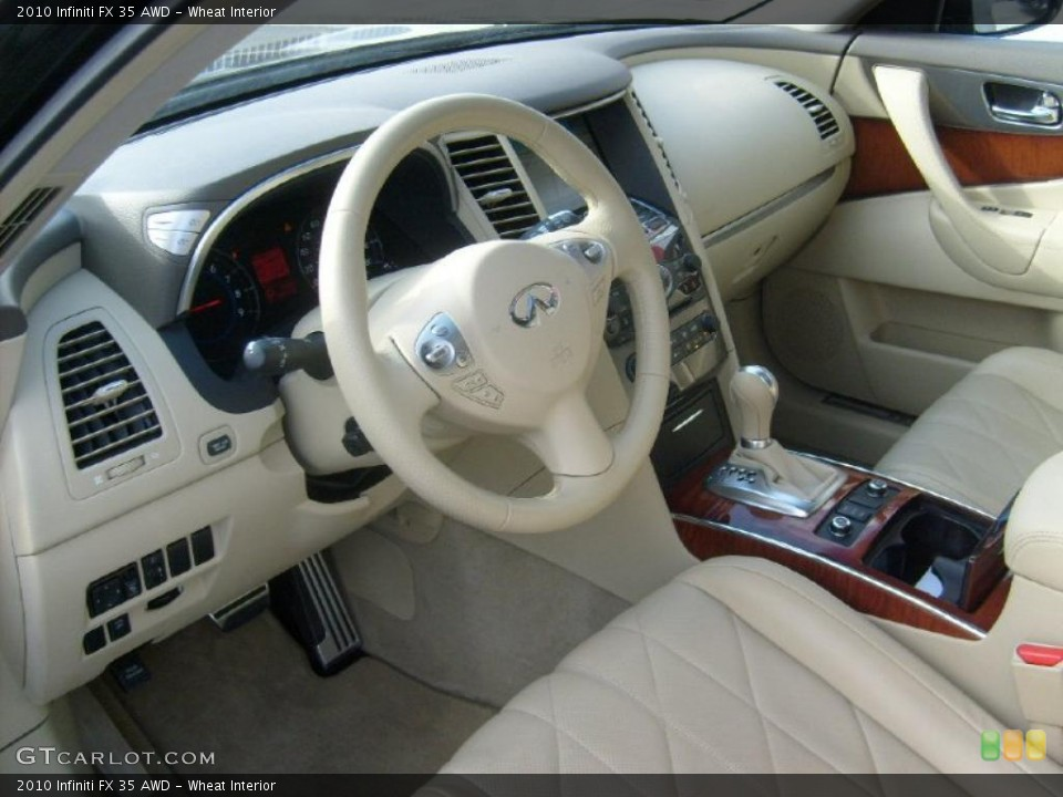 Wheat Interior Prime Interior for the 2010 Infiniti FX 35 AWD #40314284