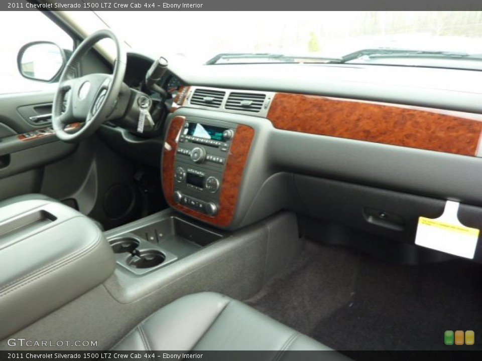 Ebony Interior Photo for the 2011 Chevrolet Silverado 1500 LTZ Crew Cab 4x4 #40384901