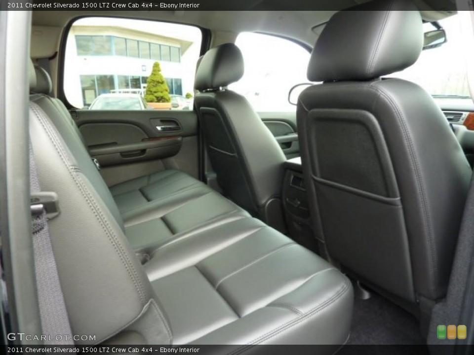 Ebony Interior Photo for the 2011 Chevrolet Silverado 1500 LTZ Crew Cab 4x4 #40384913