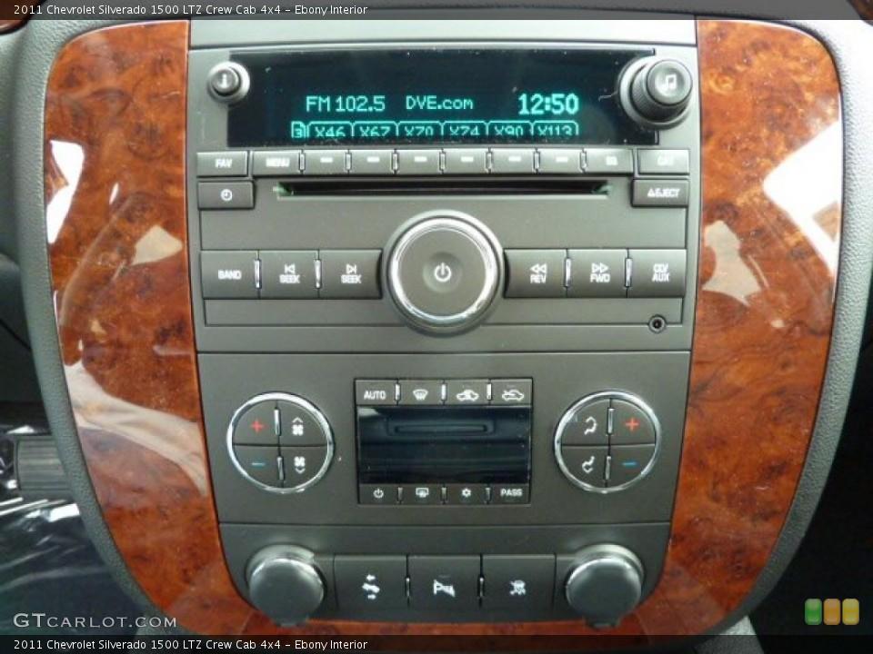 Ebony Interior Controls for the 2011 Chevrolet Silverado 1500 LTZ Crew Cab 4x4 #40385053