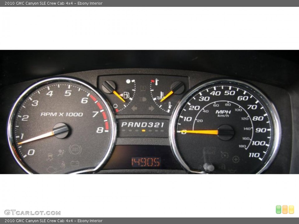 Ebony Interior Gauges for the 2010 GMC Canyon SLE Crew Cab 4x4 #40409262