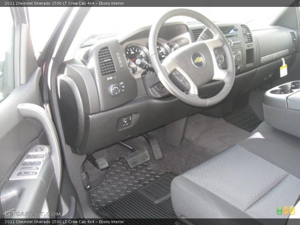 Ebony Interior Prime Interior for the 2011 Chevrolet Silverado 1500 LT Crew Cab 4x4 #40501758