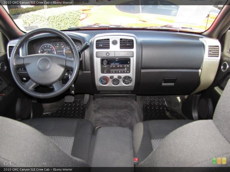 Ebony Interior Dashboard for the 2010 GMC Canyon SLE Crew Cab #40604697