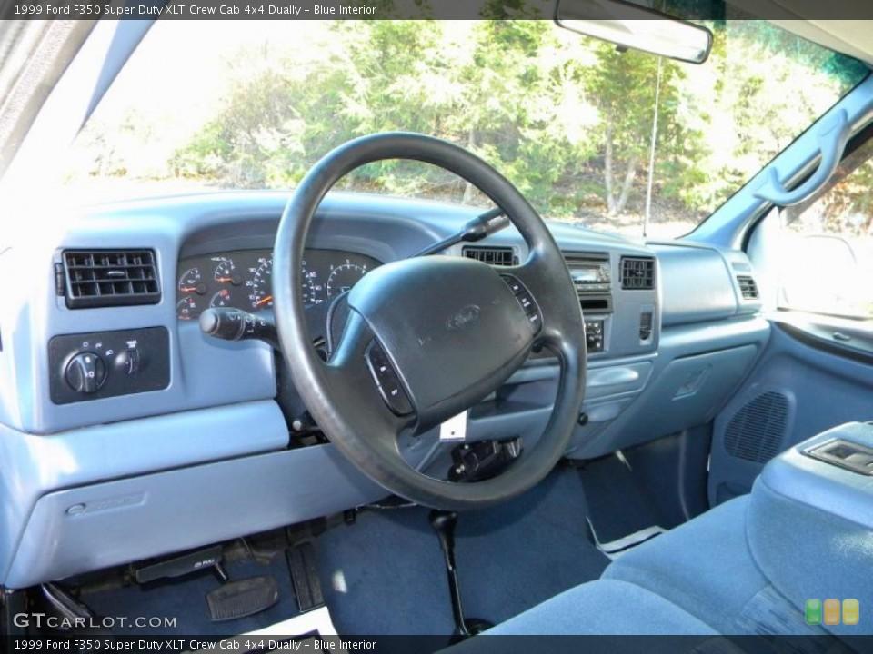 Blue 1999 Ford F350 Super Duty Interiors