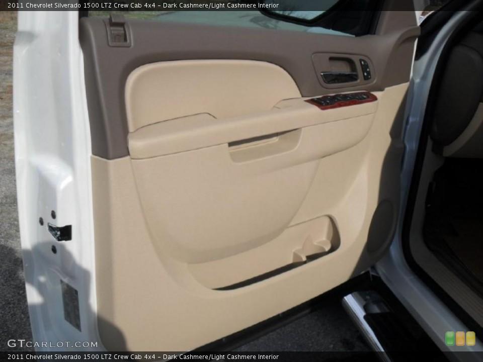 Dark Cashmere/Light Cashmere Interior Door Panel for the 2011 Chevrolet Silverado 1500 LTZ Crew Cab 4x4 #40892237