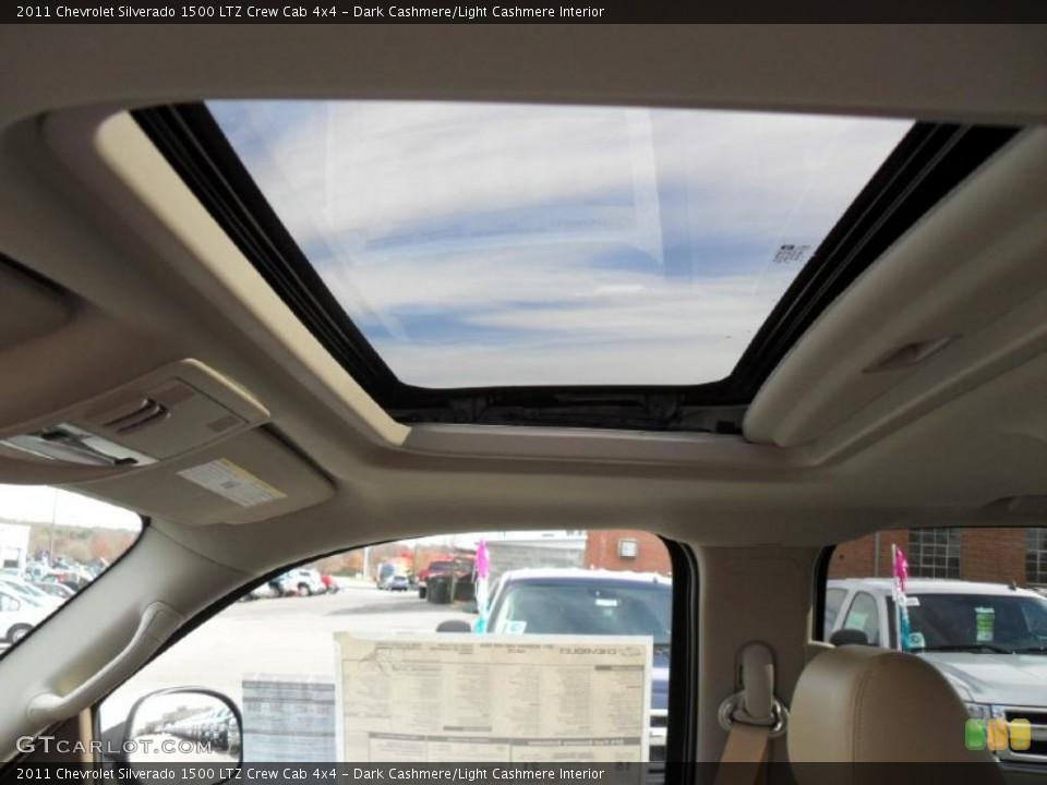 Dark Cashmere/Light Cashmere Interior Sunroof for the 2011 Chevrolet Silverado 1500 LTZ Crew Cab 4x4 #40892285