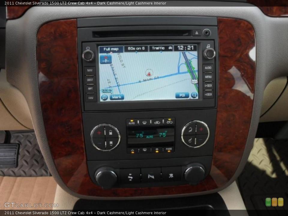 Dark Cashmere/Light Cashmere Interior Navigation for the 2011 Chevrolet Silverado 1500 LTZ Crew Cab 4x4 #40892301