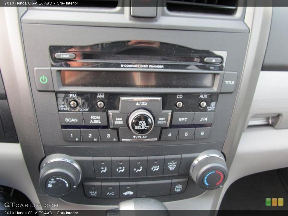 Gray Interior Controls for the 2010 Honda CR-V EX AWD #41020891