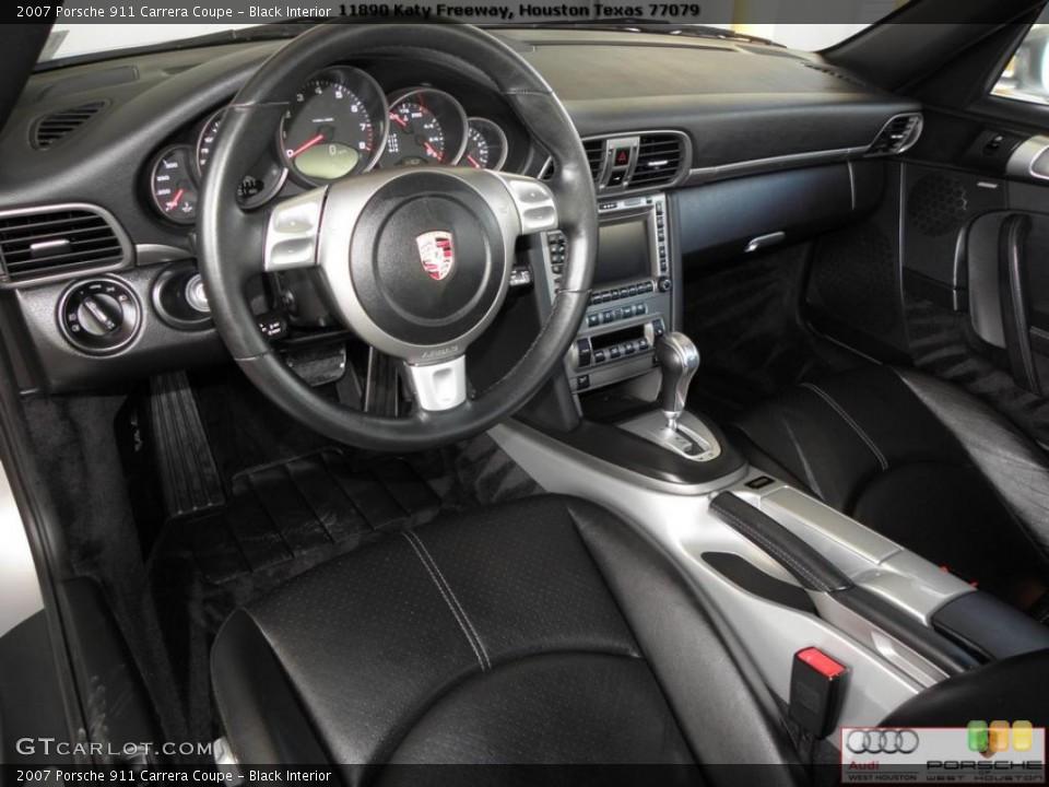 Black Interior Prime Interior for the 2007 Porsche 911 Carrera Coupe #41024084