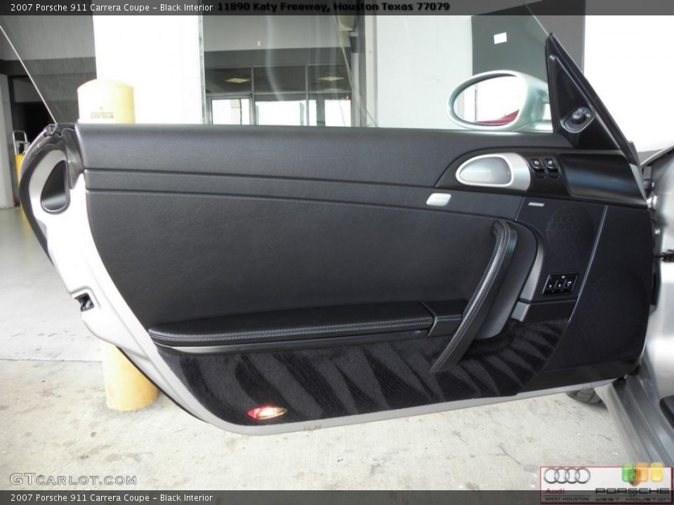 Black Interior Door Panel for the 2007 Porsche 911 Carrera Coupe #41024340