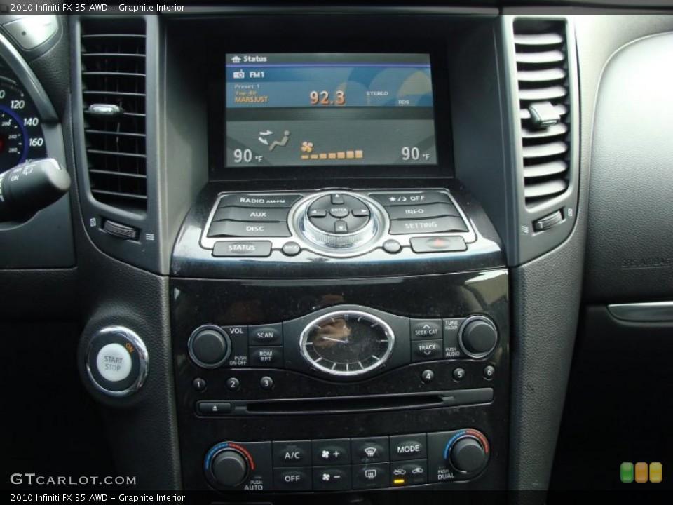 Graphite Interior Navigation for the 2010 Infiniti FX 35 AWD #41127795