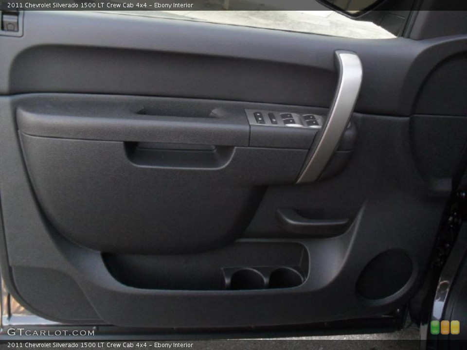 Ebony Interior Door Panel for the 2011 Chevrolet Silverado 1500 LT Crew Cab 4x4 #41135187