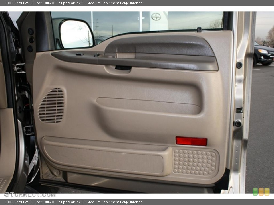Medium Parchment Beige Interior Door Panel for the 2003 Ford F250 Super Duty XLT SuperCab 4x4 #41188622