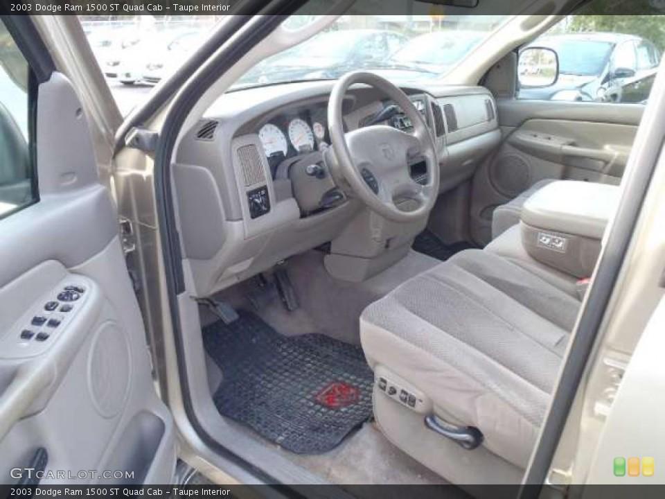 Taupe 2003 Dodge Ram 1500 Interiors