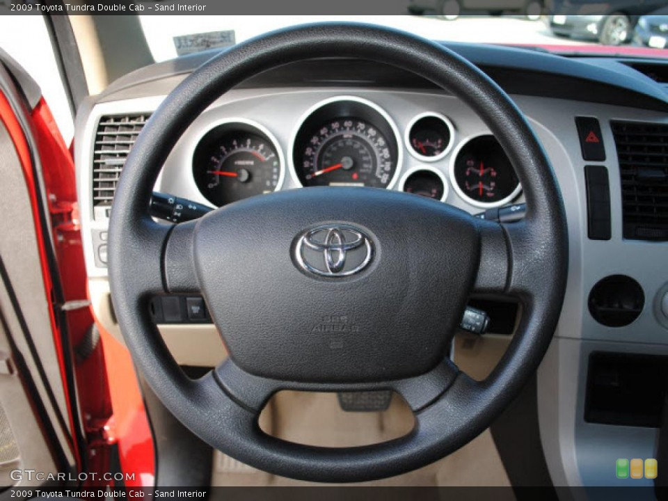 Sand Interior Steering Wheel for the 2009 Toyota Tundra Double Cab #41362647