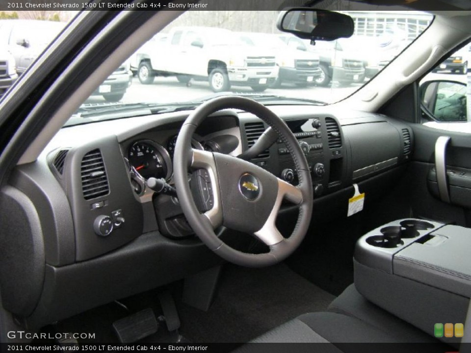 Ebony Interior Prime Interior for the 2011 Chevrolet Silverado 1500 LT Extended Cab 4x4 #41437795