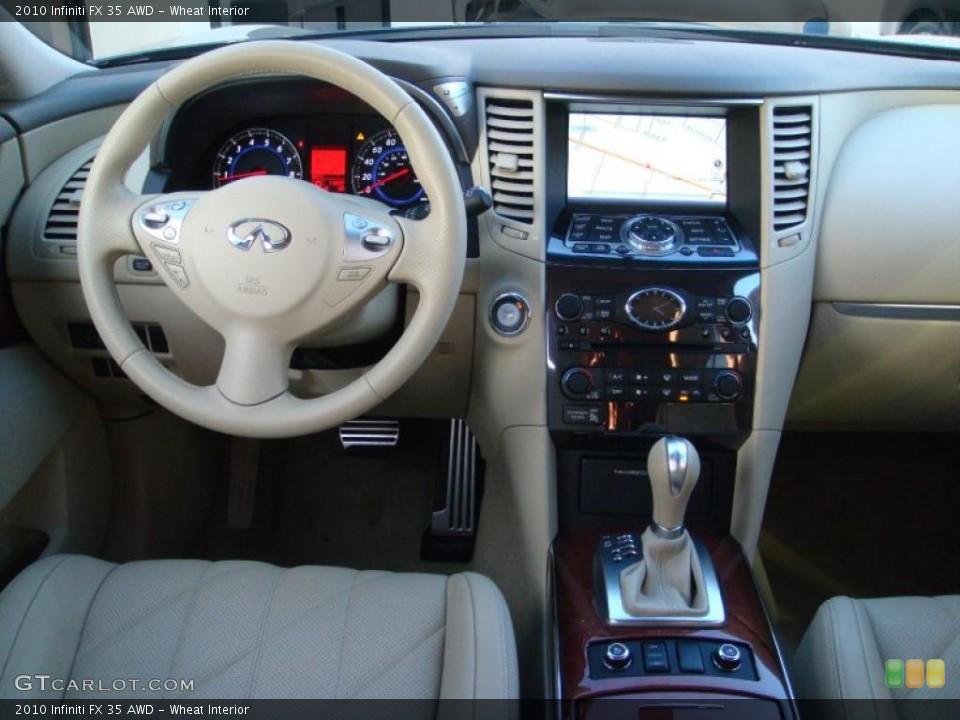 Wheat Interior Dashboard for the 2010 Infiniti FX 35 AWD #41605513