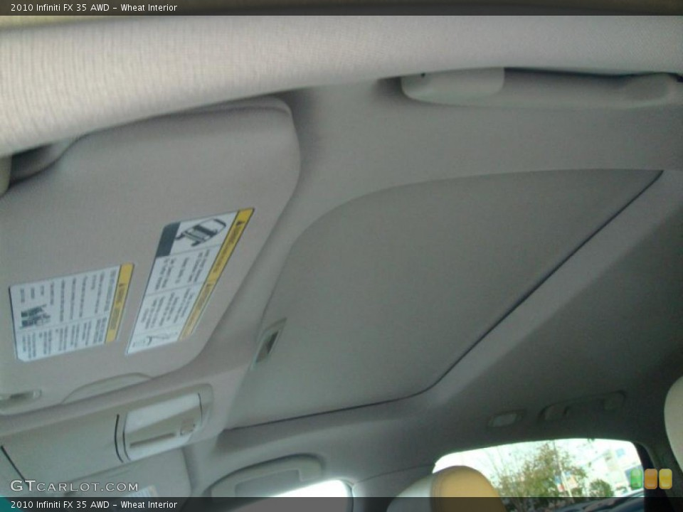 Wheat Interior Sunroof for the 2010 Infiniti FX 35 AWD #41605661