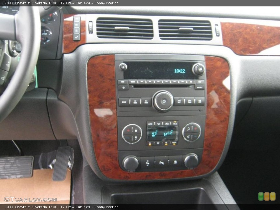 Ebony Interior Controls for the 2011 Chevrolet Silverado 1500 LTZ Crew Cab 4x4 #41646655