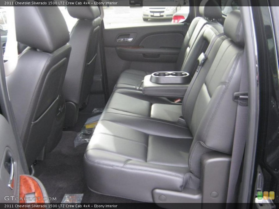 Ebony Interior Photo for the 2011 Chevrolet Silverado 1500 LTZ Crew Cab 4x4 #41646735