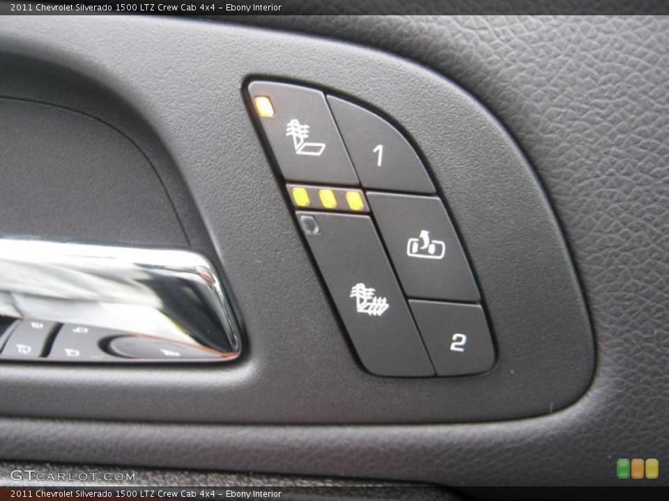 Ebony Interior Controls for the 2011 Chevrolet Silverado 1500 LTZ Crew Cab 4x4 #41646787