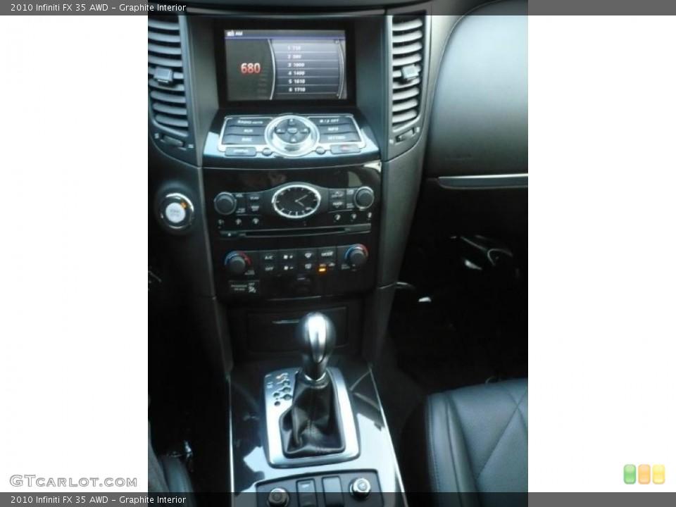 Graphite Interior Controls for the 2010 Infiniti FX 35 AWD #41771653
