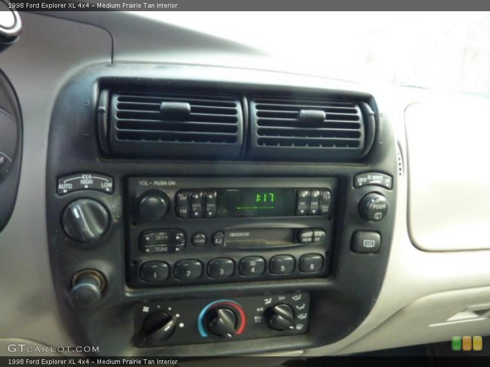 Medium Prairie Tan Interior Controls for the 1998 Ford Explorer XL 4x4 #41818279