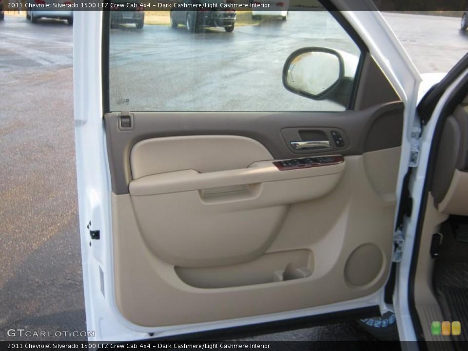 Dark Cashmere/Light Cashmere Interior Door Panel for the 2011 Chevrolet Silverado 1500 LTZ Crew Cab 4x4 #41837932