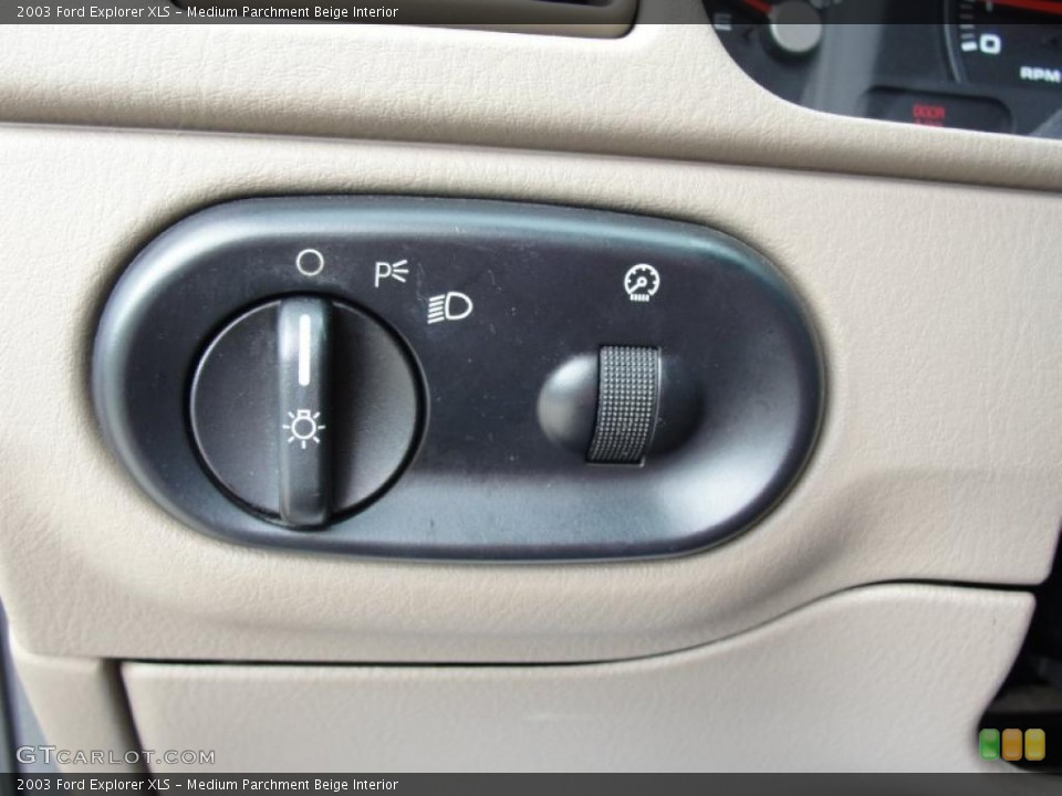 Medium Parchment Beige Interior Controls for the 2003 Ford Explorer XLS #41859474