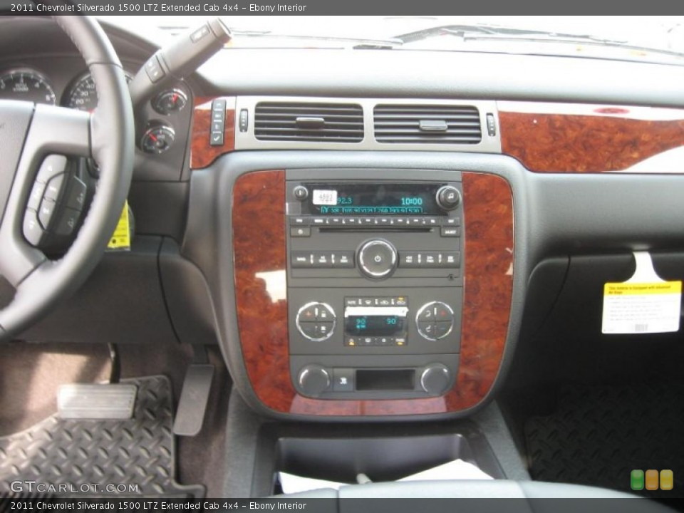 Ebony Interior Controls for the 2011 Chevrolet Silverado 1500 LTZ Extended Cab 4x4 #42125442