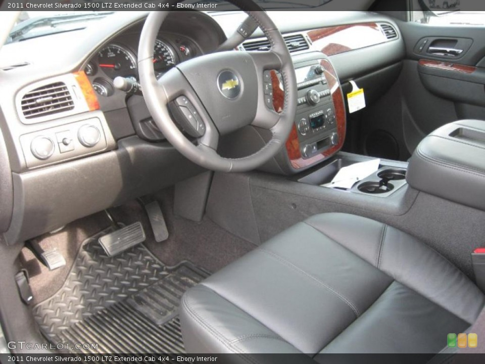Ebony Interior Dashboard for the 2011 Chevrolet Silverado 1500 LTZ Extended Cab 4x4 #42125454