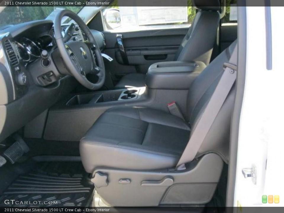 Ebony Interior Photo for the 2011 Chevrolet Silverado 1500 LT Crew Cab #42138267