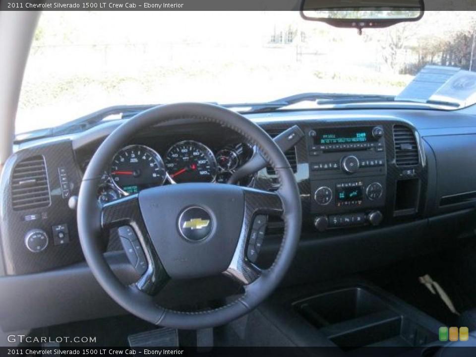 Ebony Interior Dashboard for the 2011 Chevrolet Silverado 1500 LT Crew Cab #42138291