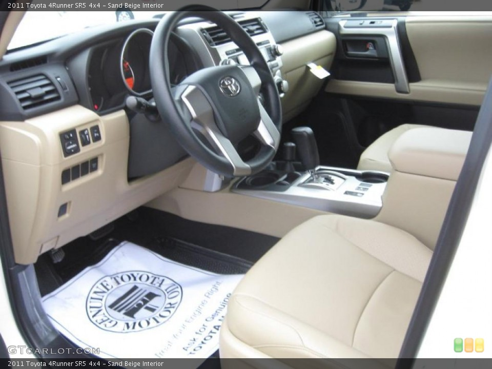 Sand Beige Interior Prime Interior for the 2011 Toyota 4Runner SR5 4x4 ...