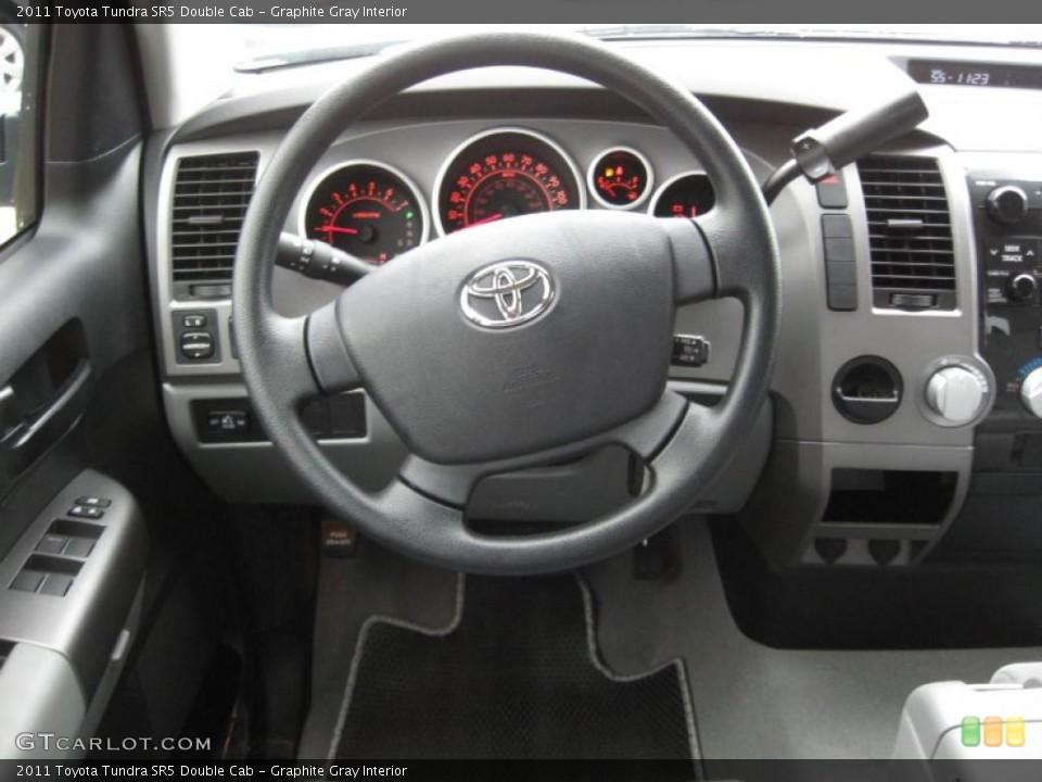 Graphite Gray Interior Steering Wheel for the 2011 Toyota Tundra SR5 Double Cab #42199803