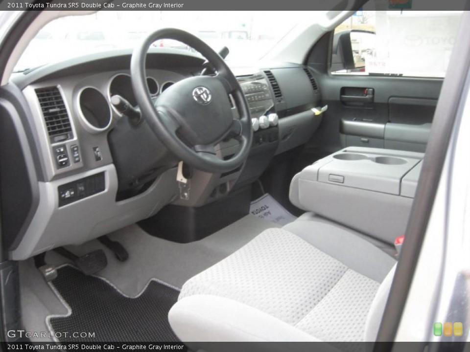 Graphite Gray Interior Photo for the 2011 Toyota Tundra SR5 Double Cab #42199835