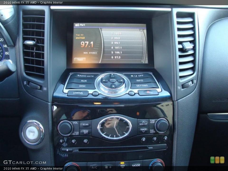 Graphite Interior Controls for the 2010 Infiniti FX 35 AWD #42385259