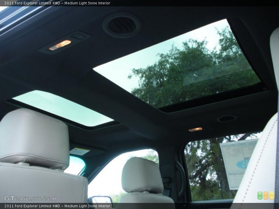 Medium Light Stone Interior Sunroof for the 2011 Ford Explorer Limited 4WD #42386750