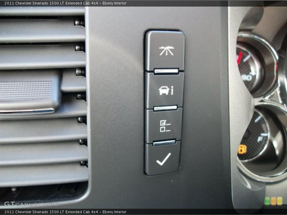 Ebony Interior Controls for the 2011 Chevrolet Silverado 1500 LT Extended Cab 4x4 #42417116