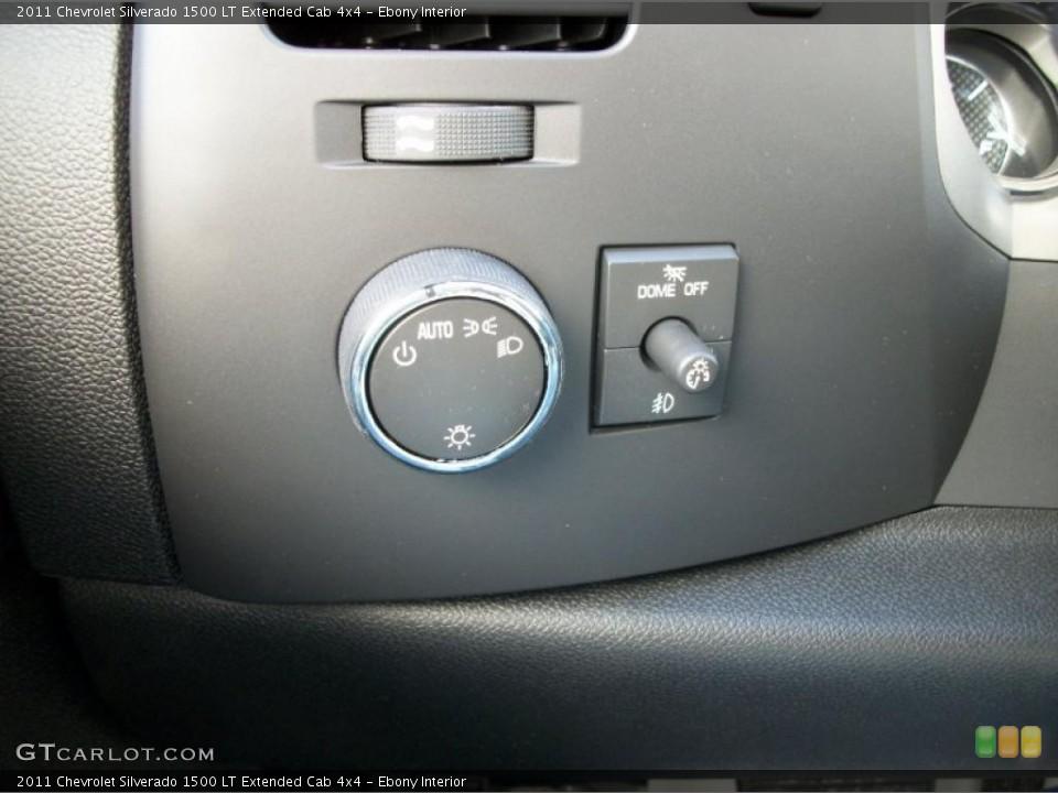 Ebony Interior Controls for the 2011 Chevrolet Silverado 1500 LT Extended Cab 4x4 #42417132