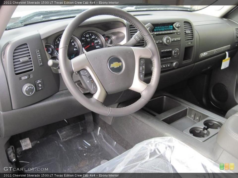 Ebony Interior Dashboard for the 2011 Chevrolet Silverado 1500 LT Texas Edition Crew Cab 4x4 #42433736