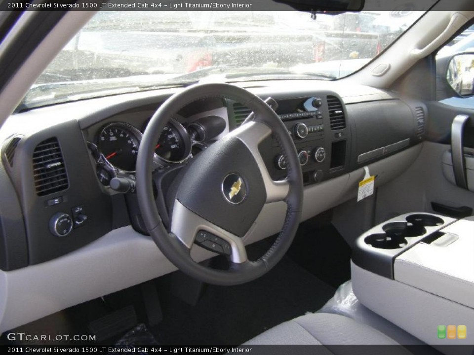 Light Titanium/Ebony Interior Prime Interior for the 2011 Chevrolet Silverado 1500 LT Extended Cab 4x4 #42468354