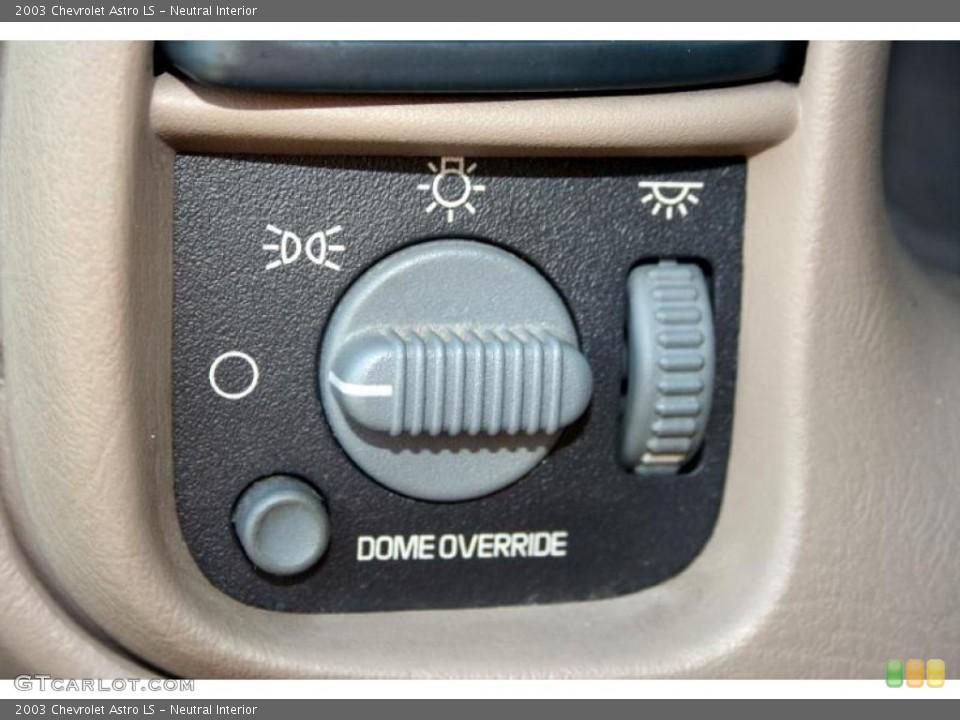 Neutral Interior Controls for the 2003 Chevrolet Astro LS #42484280