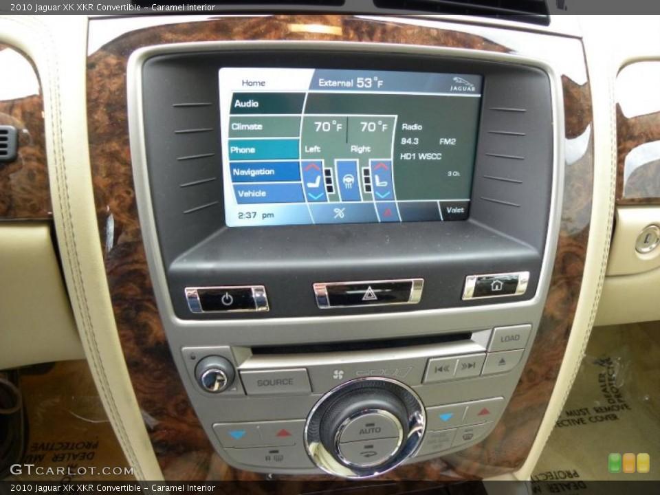 Caramel Interior Navigation for the 2010 Jaguar XK XKR Convertible #42543861