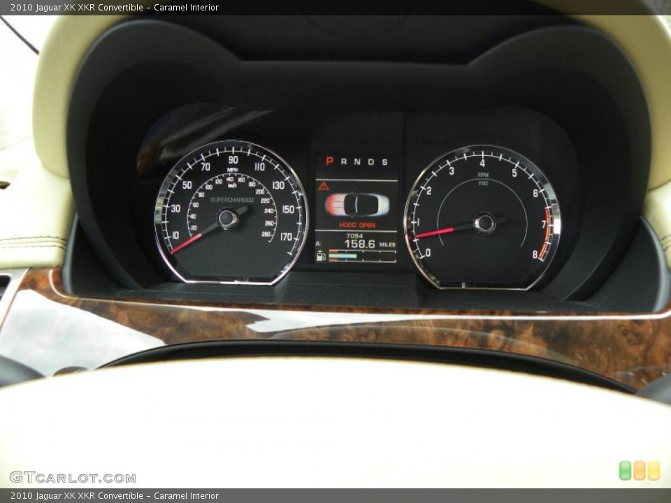 Caramel Interior Gauges for the 2010 Jaguar XK XKR Convertible #42543877