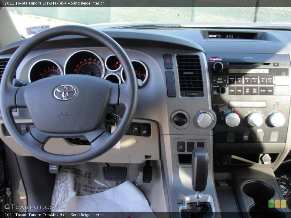 Sand Beige Interior Dashboard for the 2011 Toyota Tundra CrewMax 4x4 #42573243