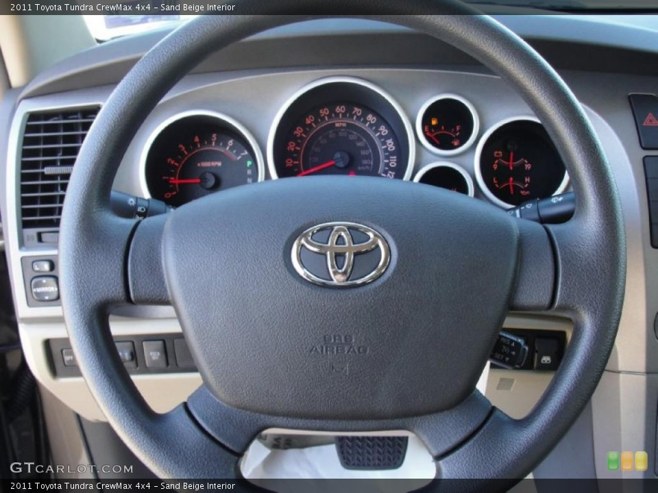 Sand Beige Interior Gauges for the 2011 Toyota Tundra CrewMax 4x4 #42573382