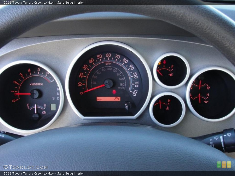 Sand Beige Interior Gauges for the 2011 Toyota Tundra CrewMax 4x4 #42573398