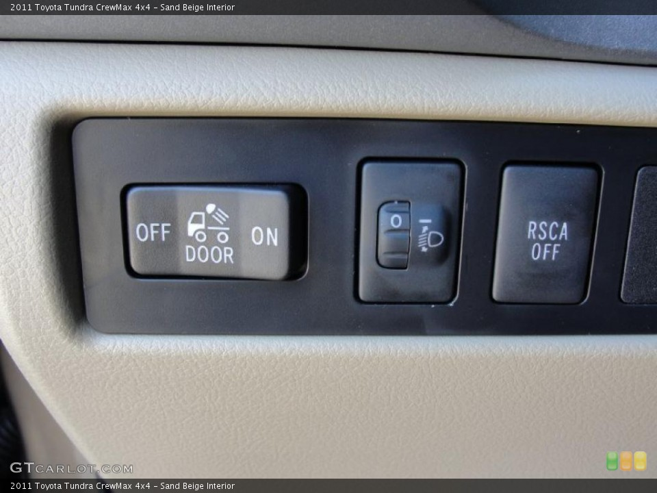 Sand Beige Interior Controls for the 2011 Toyota Tundra CrewMax 4x4 #42573426