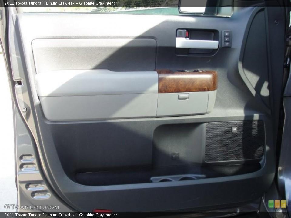 Graphite Gray Interior Door Panel for the 2011 Toyota Tundra Platinum CrewMax #42660020